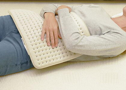 heating pad on stomach